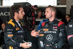 #56 Black Falcon, Mercedes-AMG GT3: Daniel Juncadella; #00 AMG-Team Black Falcon, Mercedes AMG-GT3: Maro Engel