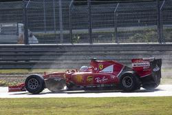 Sebastian Vettel, Ferrari, testa le gomme Pirelli 2017