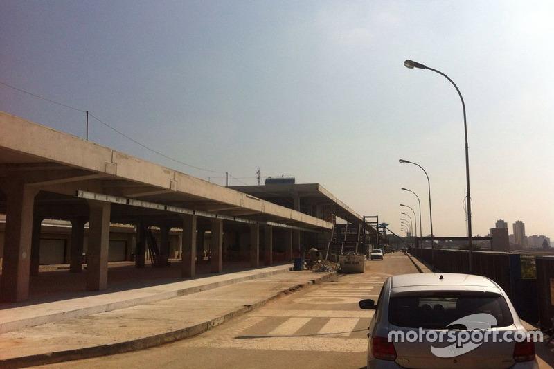 Obras en el autódromo de Interlagos