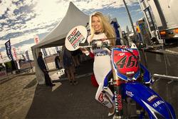 Lovely girl promotes the Moto Cross Grand Prix