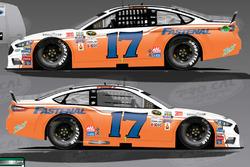 Throwback-Design von Ricky Stenhouse Jr., Roush Fenway Racing, Ford