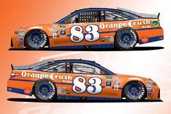 Throwback-Design von Matt DiBenedetto, BK Racing, Toyota
