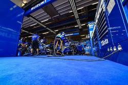 Team Suzuki MotoGP garage atmosphere