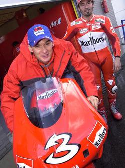 Motocross-Pilot Stefan Everts; Max Biaggi, Yamaha Team
