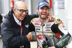 Race winner Cal Crutchlow, Team LCR Honda with Carmelo Ezpeleta, CEO of Dorna