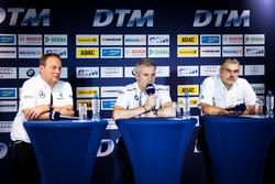 Pressekonferenz: Ullrich Fritz, Teamchef Mercedes-AMG HWA; Jens Marquardt, BMW-Motorsportdiektor; Dieter Gass, DTM-Leiter Audi Sport