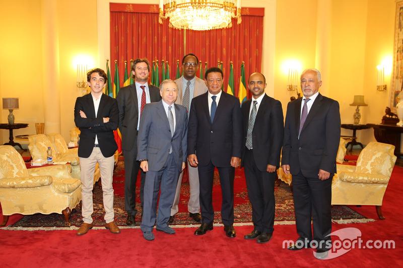 Jean Todt, président de la FIA avec le président de l'Ethiopie Mulatu Teshome