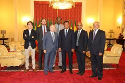 Jean Todt, FIA Präsident mit Präsident Mulatu Teshome aus Äthiopien
