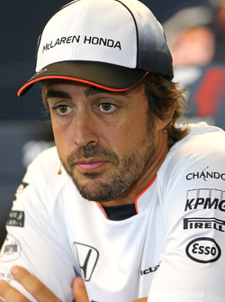 Fernando Alonso, McLaren Honda at FIA Press Conference