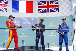 Podium: winner Pierre Gasley, PREMA Racing, second place Jordan King, Racing Engineering, third place Alex Lynn, DAMS