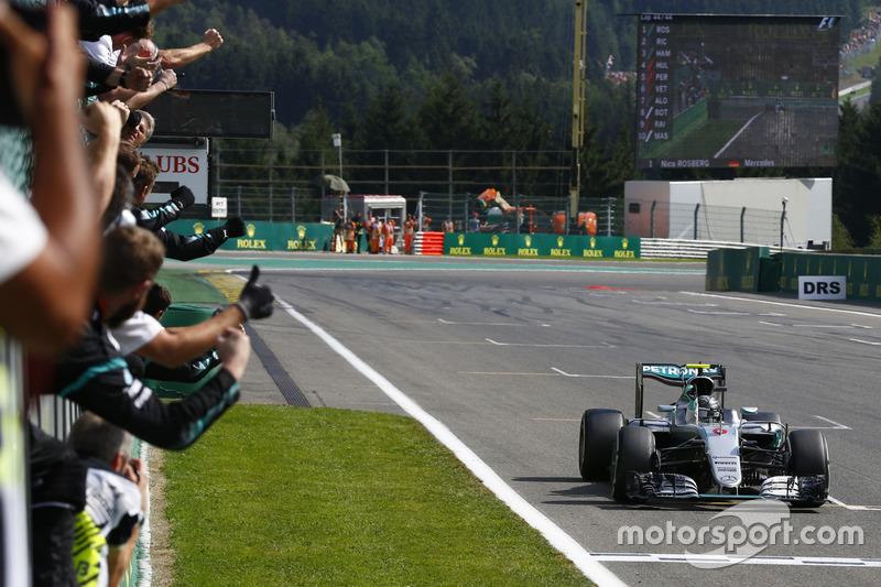 De laatste winnaar op Spa-Francorchamps, Nico Rosberg, Mercedes (2016)