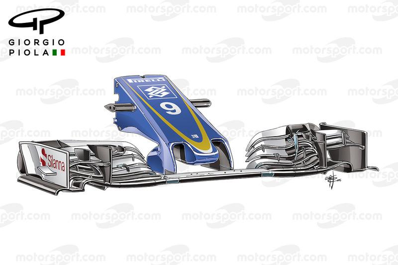 Sauber C35 voorvleugel, Belgische GP