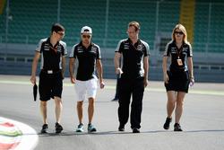 Trackwalk: Sergio Perez, Sahara Force India F1 VJM09
