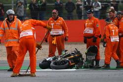 Moto van Pol Espargaro, Tech 3 Yamaha na zijn crash