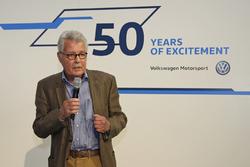 Rainer Braun bei der Eröffnungveranstaltung - 50 Jahre - Volkswagen Motorsport