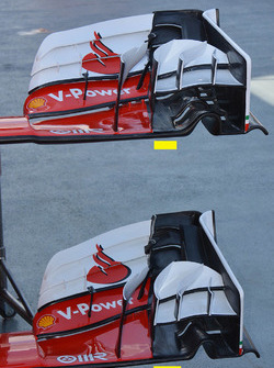 Ferrari SF16-H front wing comparison