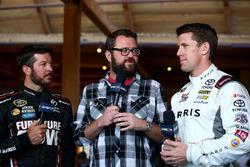 Martin Truex Jr., Furniture Row Racing Toyota, Rutledge Wood, Carl Edwards, Joe Gibbs Racing Toyota