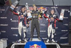 Podio: ganador Tanner Foust, Andretti Autosport Volkswagen, segundo lugar Sebastian Eriksson, Honda, tercer lugar Joni Wiman, Honda