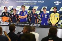 Brad Binder, Red Bull KTM Ajo, Dani Pedrosa, Repsol Honda Team, Valentino Rossi, Yamaha Factory Racing, Marc Marquez, Repsol Honda Team, Jorge Lorenzo, Yamaha Factory Racing, Alex Rins, Paginas Amarillas HP 40