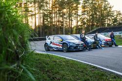 Johan Kristoffersson, Volkswagen Team Schweden, Andreas Bakkerud, Hoonigan Racing Division Ford, Sebastien Loeb, Team Peugeot Hansen
