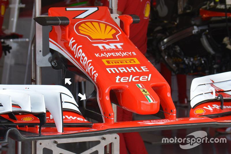Ferrari SF16-H: Frontflügel und Nase