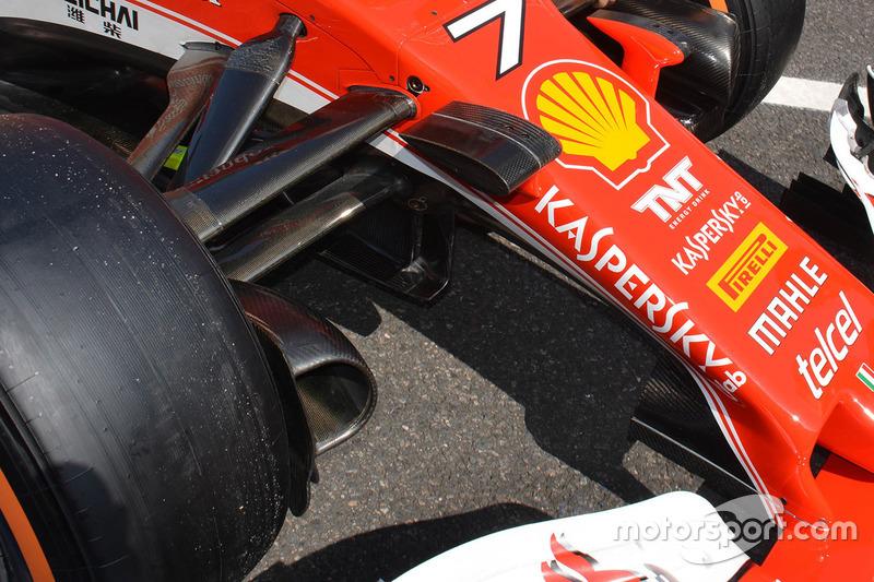 Ferrari SF16-H detalle del frente