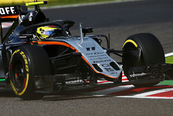 Sergio Perez, Sahara Force India F1 VJM09 con il dispositivo Halo