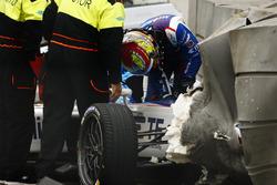 Crash van Robin Frijns, Amlin Andretti Formula E Team