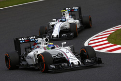 Felipe Massa, Williams FW38; Valtteri Bottas, Williams FW38