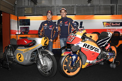 Dani Pedrosa, Repsol Honda Team, Marc Márquez, Repsol Honda Team con la Honda RC181 y la Honda RC213V
