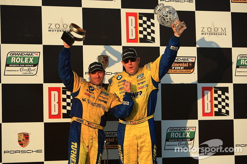 GT podium: class winner Bill Auberlen and Paul Dalla Lana