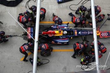 Sebastian Vettel was fastest on the Pirellis today