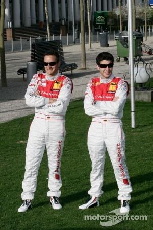 Timo Scheider, Audi Sport Team Abt Audi A4 DTM and Mike Rockenfeller, Audi Sport Team Abt Audi A4 DTM