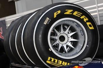Silver Pirelli tyres