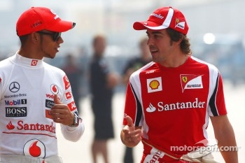 Lewis Hamilton, McLaren Mercedes and Fernando Alonso, Scuderia Ferrari