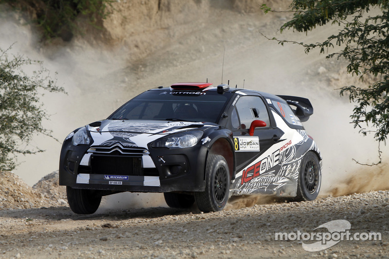 Kimi Raikkonen y Kaj Lindstrom, Citroën DS3 WRC, ICE 1 Racing
