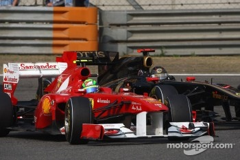 Felipe Massa again out paced Alonso