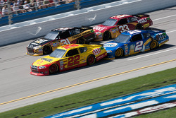 Kurt Busch, Penske Racing Dodge, Brad Keselowski, Penske Racing Dodge, Jeff Burton, Richard Childress Racing Chevrolet, Clint Bowyer, Richard Childress Racing Chevrolet