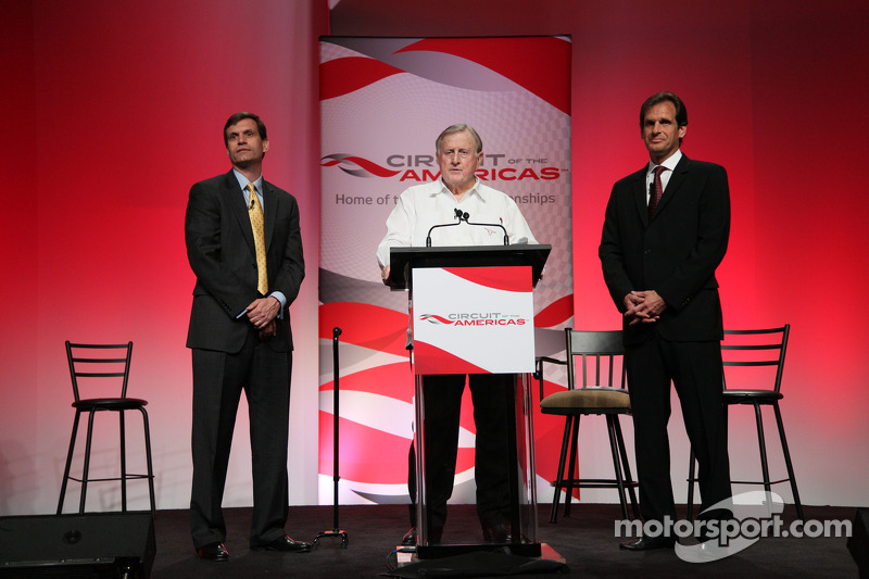 Press conference announcing a 10-year contract to bring MotoGP to the new Circuit of the Americas be