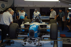 Mario Dominguez's car in technical inspection