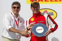 458 podium: race winner Enzo Potolicchio