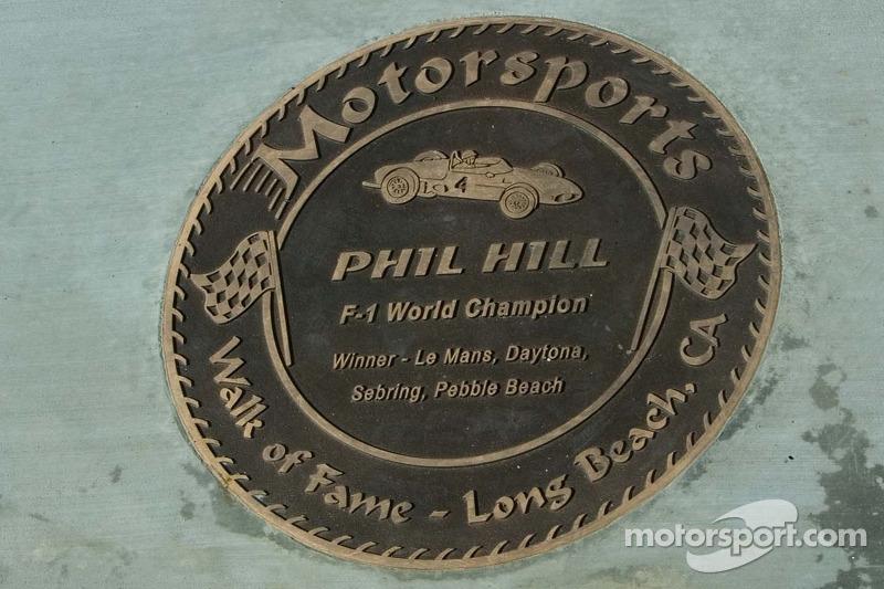 Walk of Fame - Long Beach, plaque pour Phil Hill