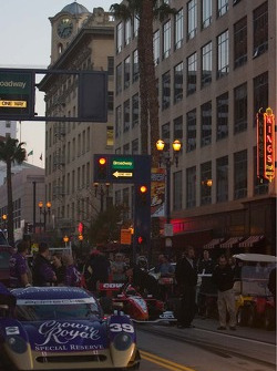 The scene on Pine Street Thursday night for the pit stop competition