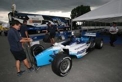 Forsythe Racing car at tech inspection