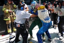 The Alex Tagliani vs Paul Tracy fight