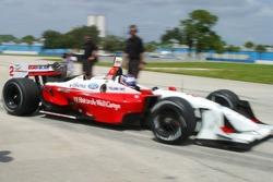 Graham Rahal tests a Champ Car for Newman Haas Racing