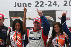 Victory circle: race winner Paul Tracy