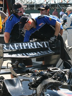 Conquest Racing crew members at work