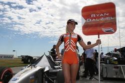 The grid girl of Ryan Dalziel