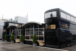 The motorhome of Lotus Renault GP